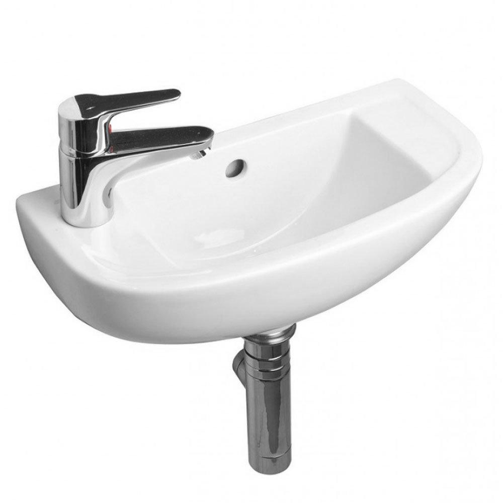 RAK Compact 45cm Slimline Bathroom Basin - 1TH - Left or Right Hand Option