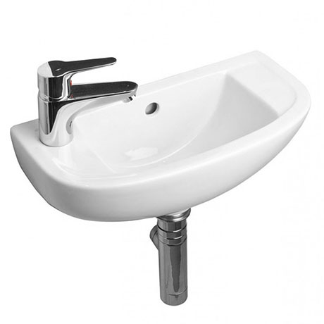 RAK Compact 45cm Slimline Bathroom Basin - 1TH - Left or Right Hand Option