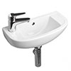 RAK Compact 45cm Slimline Bathroom Basin - 1TH - Left or Right Hand Option profile small image view 1
