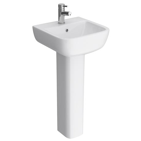 RAK Series 600 40cm Basin With Full Pedestal