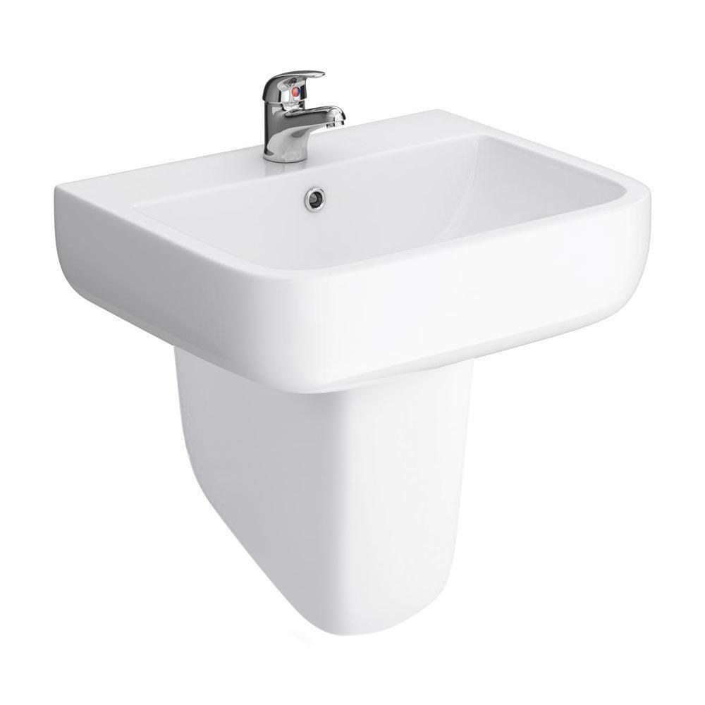 RAK Series 600 52cm Basin With Half Pedestal Large Image