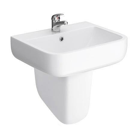 RAK Series 600 52cm Basin With Half Pedestal