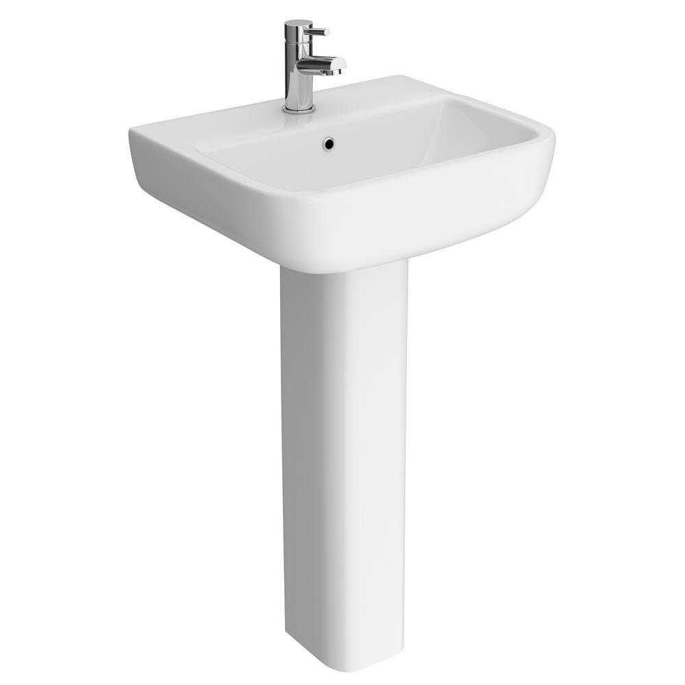 RAK Series 600 52cm Basin With Full Pedestal Large Image