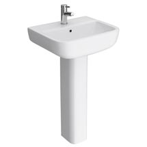 RAK Series 600 52cm Basin With Full Pedestal Medium Image