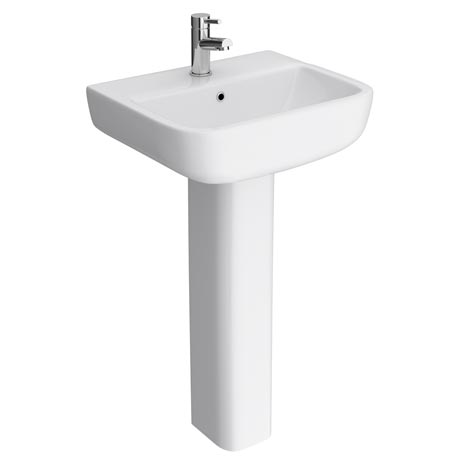 RAK Series 600 52cm Basin With Full Pedestal
