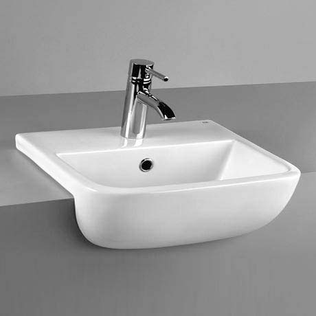 RAK Series 600 52cm Semi Recessed Basin 1TH - S60052SR1