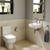 RAK Series 600 Cloakroom Suite - Close Coupled WC & 40cm Hand Basin profile small image view 1