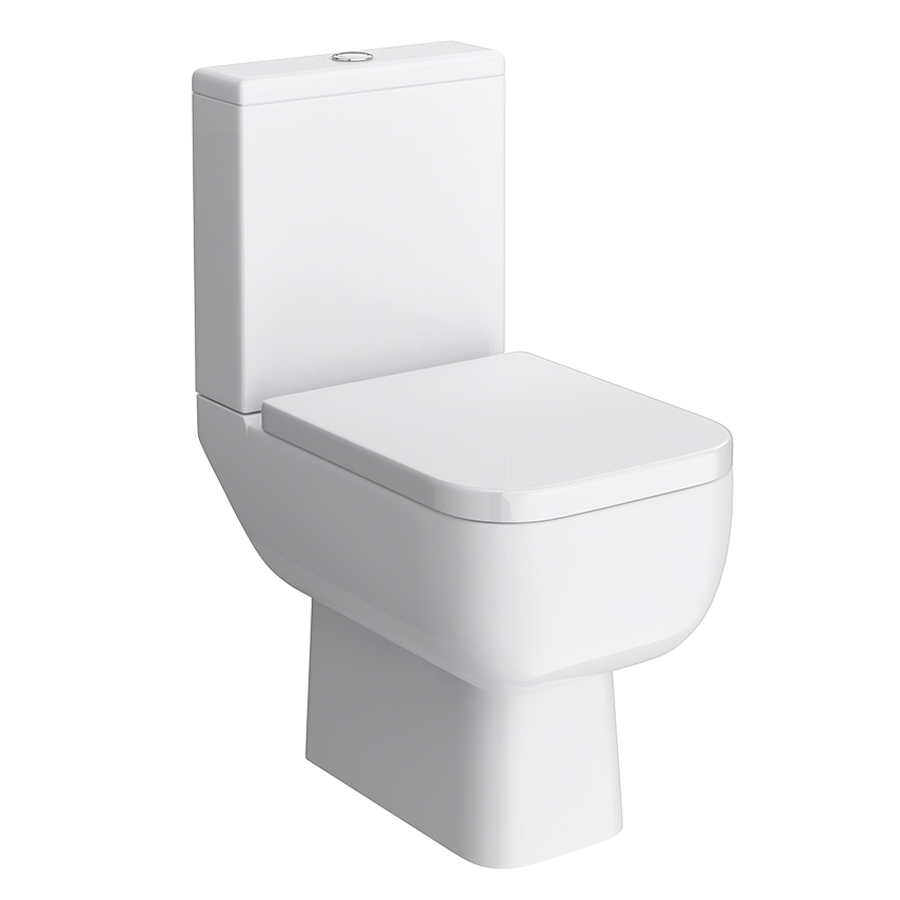 RAK Series 600 Close Coupled Toilet with Wrap Over Seat Large Image