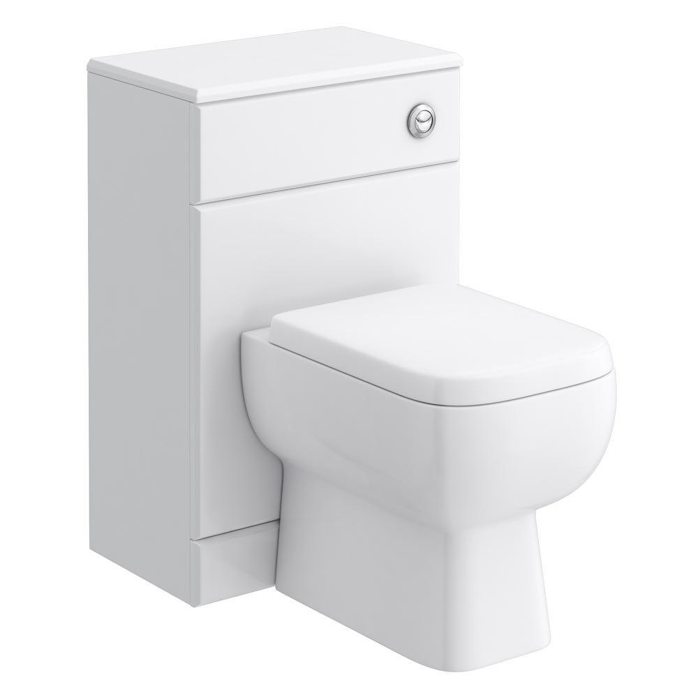 RAK Series 600 Gloss White BTW Toilet Unit inc Cistern & Soft Close Seat - 2 Size Options Large Image