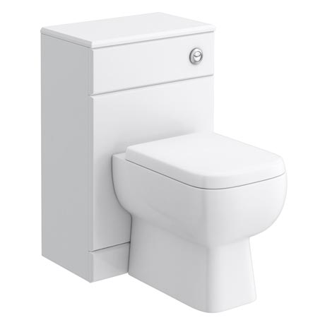 RAK Series 600 Gloss White BTW Toilet Unit inc Cistern & Soft Close Seat - 2 Size Options
