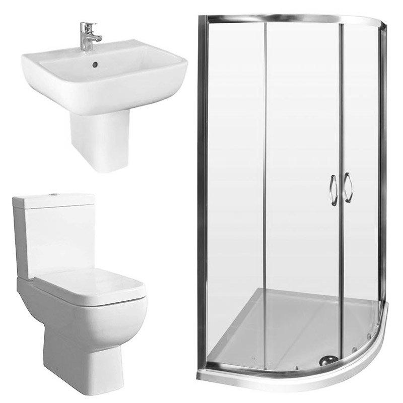 RAK Series 600 Suite and Ella Shower Quadrant - En-Suite Set - 2 Size Options Large Image