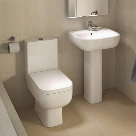 RAK Series 600 WC PAK with Soft Close Seat and 1TH Basin
