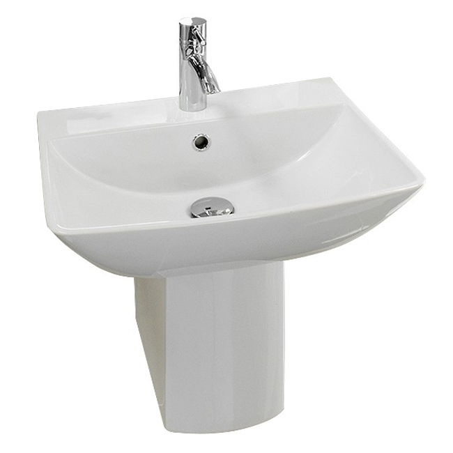 RAK Summit 50cm Basin 1TH with Half Pedestal Profile Large Image