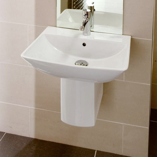 RAK Summit 50cm Basin 1TH with Half Pedestal Large Image