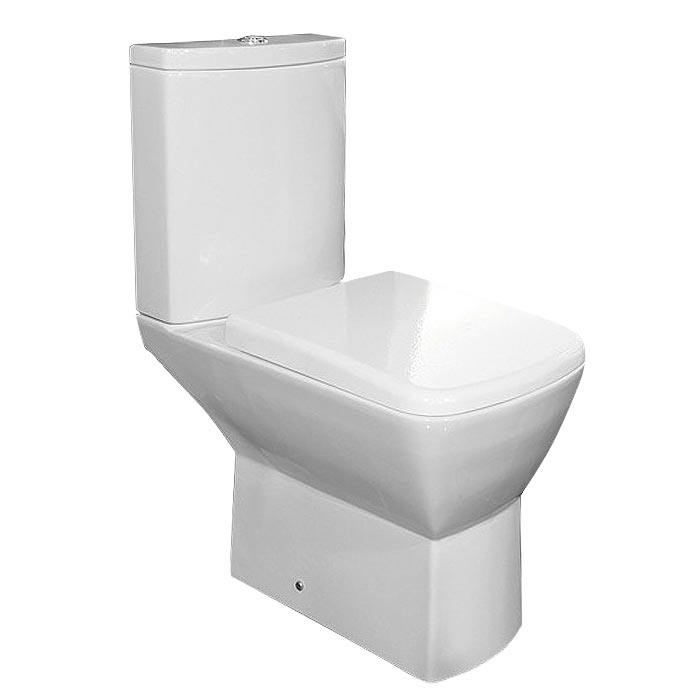 RAK Summit Cloakroom Suite - Close Coupled WC & 40cm Hand Basin Feature Large Image