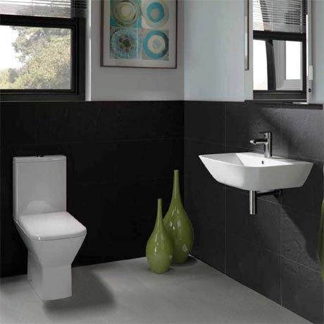 RAK Summit Cloakroom Suite - Close Coupled WC & 40cm Hand Basin