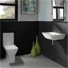 RAK Summit Cloakroom Suite - Close Coupled WC + 40cm Hand Basin profile small image view 1