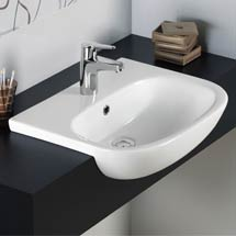RAK Tonique 52cm Semi-Recessed Basin - 1 Tap Hole - TONSRBAS1 Medium Image