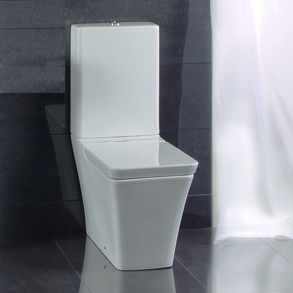 RAK White Opulence Close Coupled Toilet with Soft Close Seat profile large image view 2