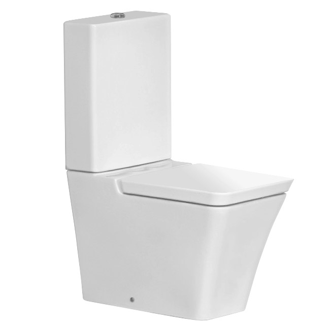 RAK White Opulence Close Coupled Toilet with Soft Close Seat profile large image view 1