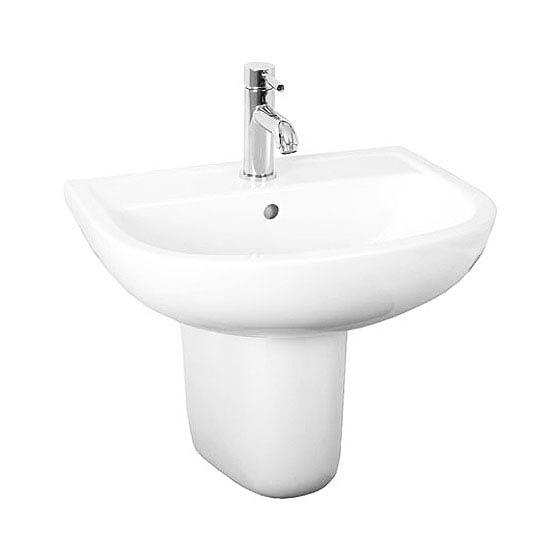 RAK Compact 55cm Basin 2TH with Half Pedestal Large Image