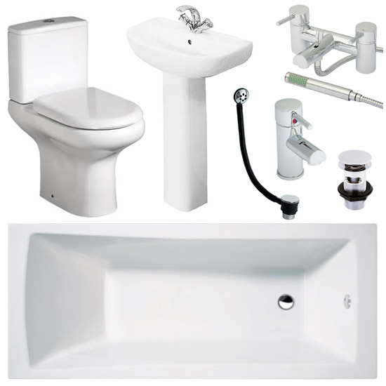 Cove Complete Bathroom Suite: RAK Compact 1700 Complete Bathroom Package At Victorian