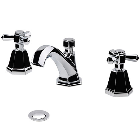 RAK Washington 3 Hole Basin Mixer + Pop-up Waste - RAKWTN3019