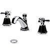 RAK Washington Art Deco 3 Hole Basin Mixer + Pop-up Waste - RAKWTN3019 profile small image view 1