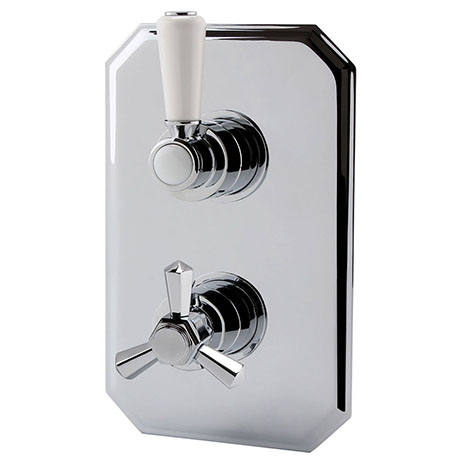 RAK Washington Art Deco Single Outlet Thermostatic Concealed Shower Valve - RAKWTN3201