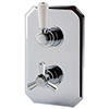 RAK Washington Art Deco Dual Outlet Thermostatic Concealed Shower Valve - RAKWTN3202 profile small image view 1