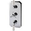 RAK Washington Art Deco Triple Outlet Thermostatic Concealed Shower Valve - RAKWTN3204 profile small image view 1