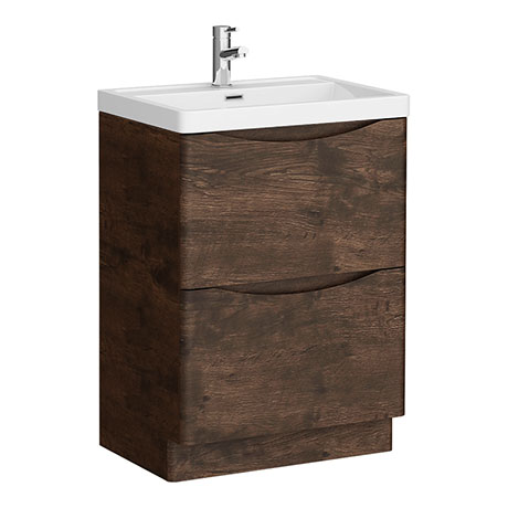 Ronda Chestnut 600mm Wide Floor Standing Vanity Unit