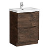 Ronda Chestnut 600mm Wide Floor Standing Vanity Unit profile small image view 1