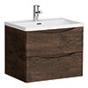 Ronda Chestnut 600mm Wide Wall Mounted Vanity Unit profile small image view 1