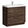 Ronda Chestnut 900mm Wide Floor Standing Vanity Unit Medium Image