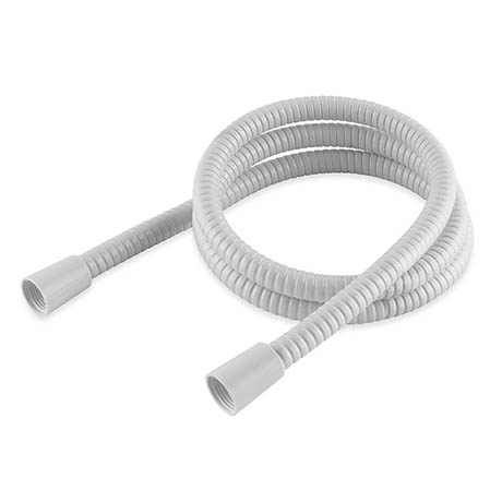 MX 1.50m White PVC Hi-Flow Shower Hose - RCA