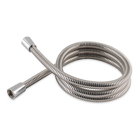 MX 1.25m Stainless Steel Double Interlock Hi-Flow Shower Hose with Metal Nuts - RCG