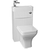 Ronda 500mm White Ash 2-In-1 Combined Wash Basin & Toilet profile small image view 1