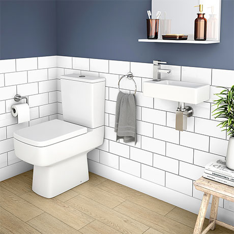 Rondo Cloakroom Suite (Toilet + Wall Hung Basin)