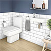 Rondo Cloakroom Suite (Toilet + Wall Hung Basin) profile small image view 1