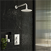 Arezzo Matt White Round Shower Package with Concealed Valve + Head profile small image view 1