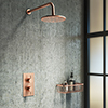 Arezzo Rose Gold Round Shower Package with Concealed Valve + Head profile small image view 1