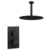 Arezzo Matt Black Round Shower Package with Concealed Valve + 300mm Ceiling Mounted Head profile small image view 1