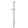 MX Combo Adjustable Shower Riser Rail - White/Chrome - RDA profile small image view 1