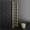 Brooklyn 1600 x 500mm Brushed Brass Straight Heated Towel Rail profile small image view 1