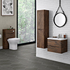 Ronda Chestnut Wall Hung Bathroom Furniture Package profile small image view 1