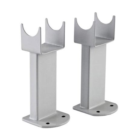 Hudson Reed - Large Radiator Floor Mounting Feet - High Gloss Silver - RDF008
