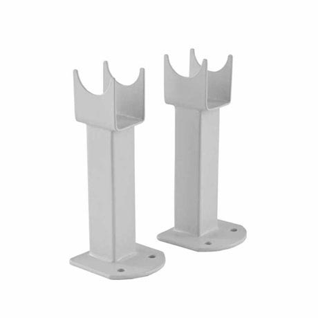 Hudson Reed - Small Radiator Floor Mounting Feet - White - RDF011