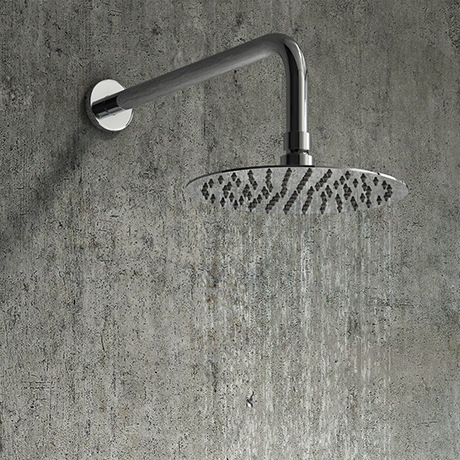 Cruze Round 200mm Chrome Fixed Shower Head + Wall Mounted Arm