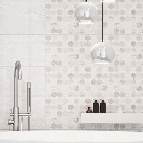 Reena Hex Decor Wall Tiles - 300 x 600mm